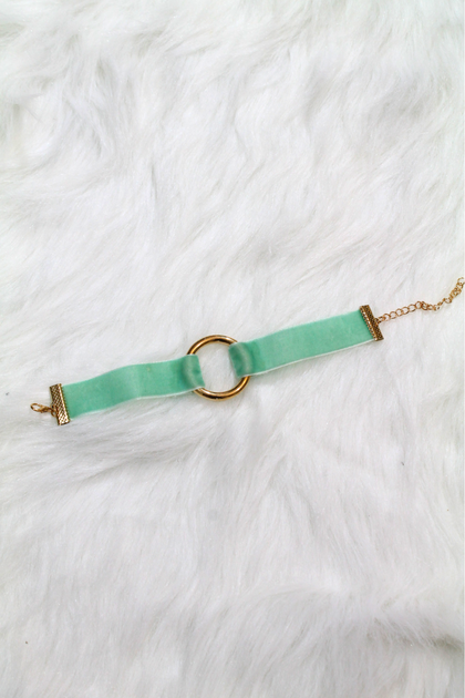 Velvet Ring Bracelet - Mint - Amor Black Boutique