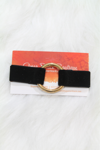 Velvet Ring Bracelet - Black - Amor Black Boutique