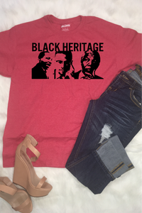 Black Heritage Top - Red