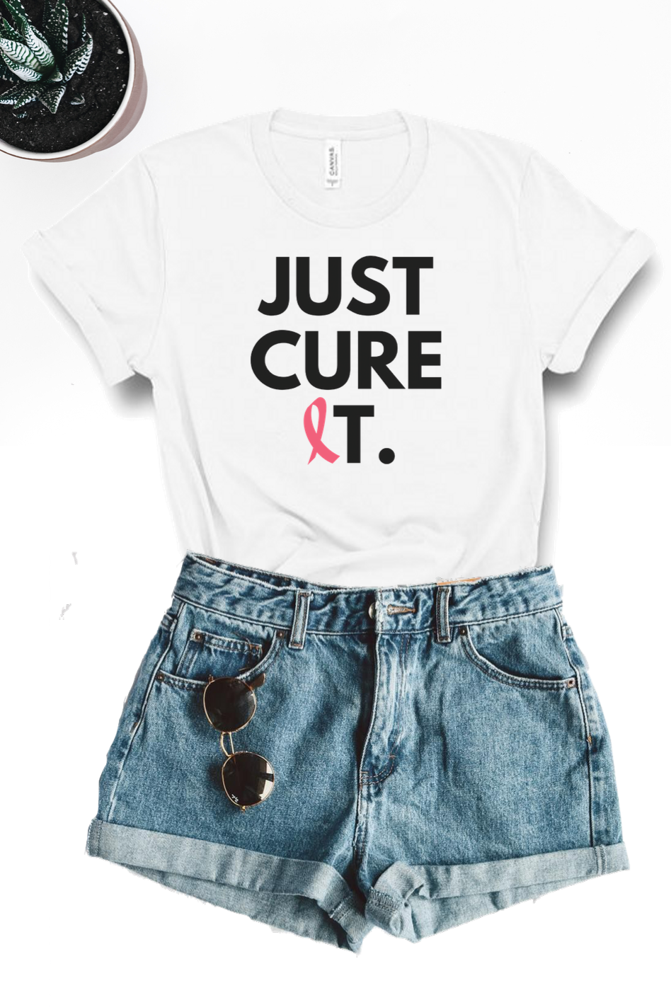 Just Cure It Graphic Tee - White