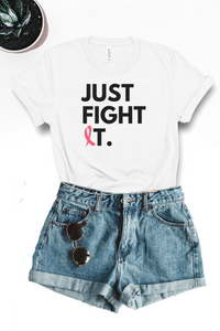 Just Fight It Graphic Tee - White