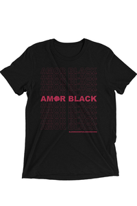 Amor Black Tee - Black - Graphic Top
