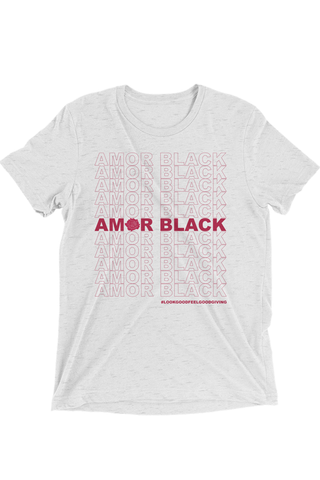 Amor Black Tee - White - Graphic Top