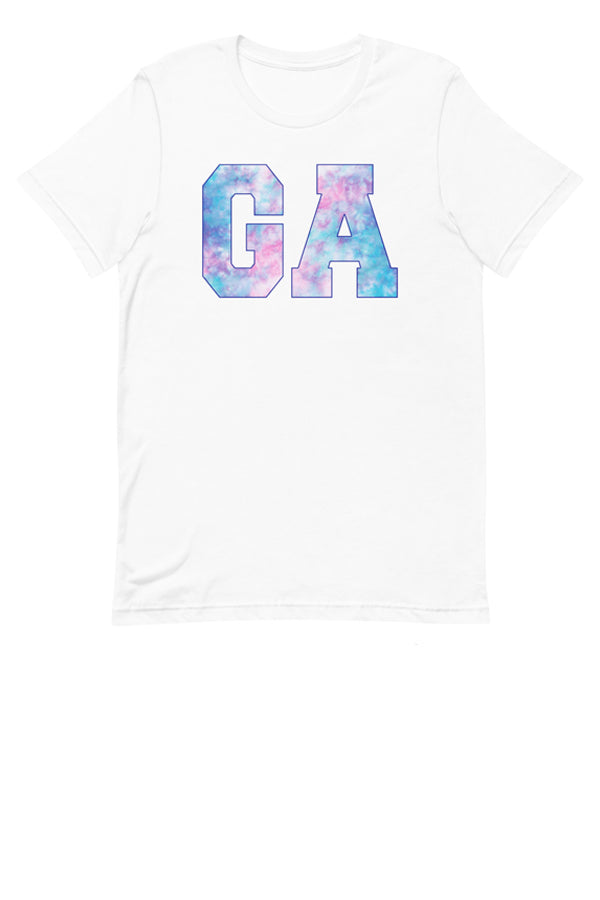 State Tie Dye Graphic Tee - White - Amor Black Boutique