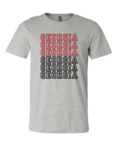 Georgia Repeater Graphic Tee - Xs / Grey - Graphic Top