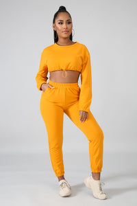 Not Givin Up Set - Mustard - Amor Black Boutique