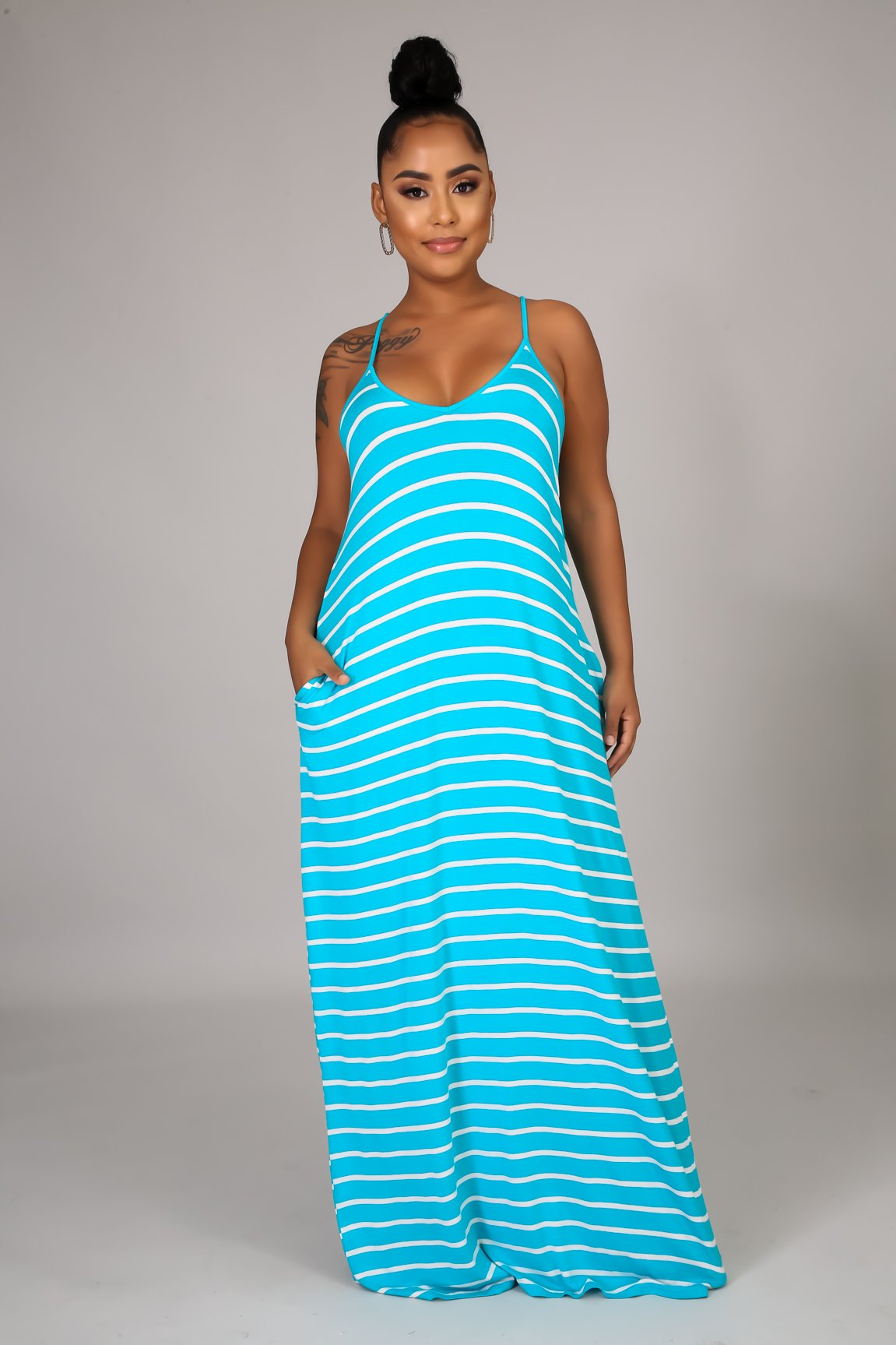 Go Crazy Maxi Dress - Ice Blue