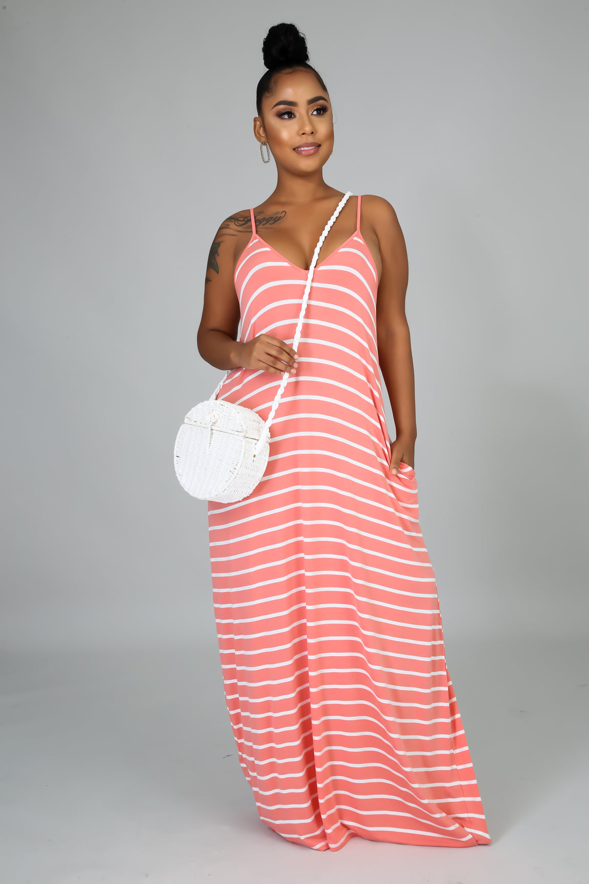 Go Crazy Maxi Dress - Coral