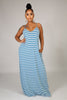 Go Crazy Maxi Dress - Blue