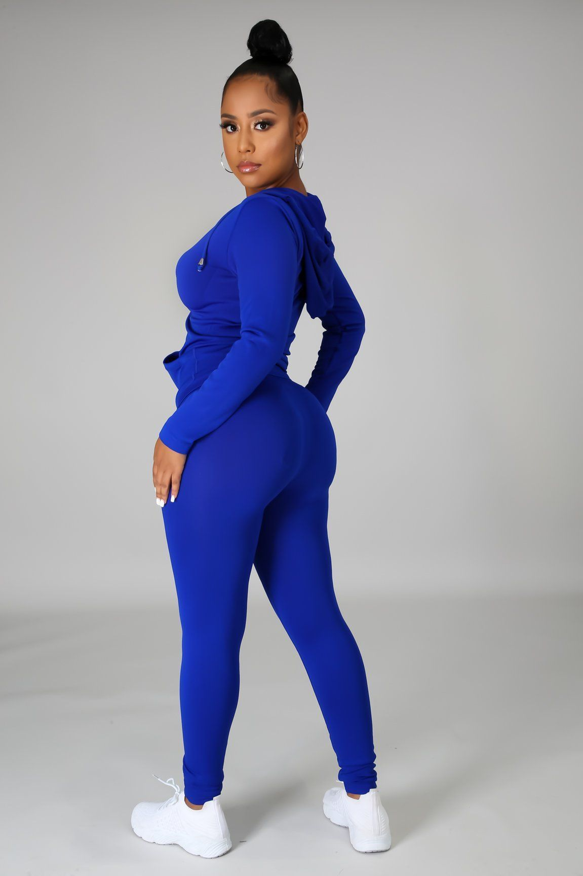 You Can Do It Legging Set - Royal