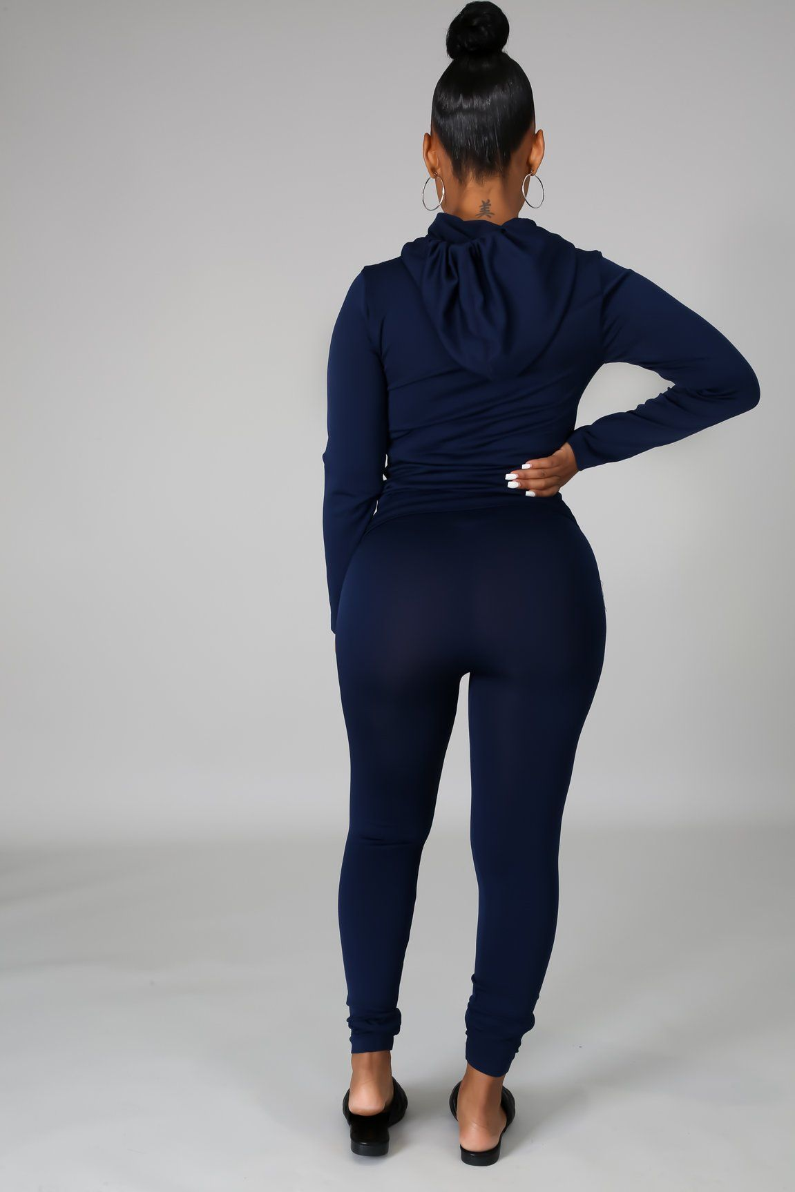 You Can Do It Legging Set - Navy
