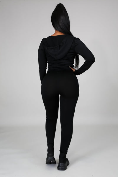 You Can Do It Legging Set - Black - Amor Black Boutique