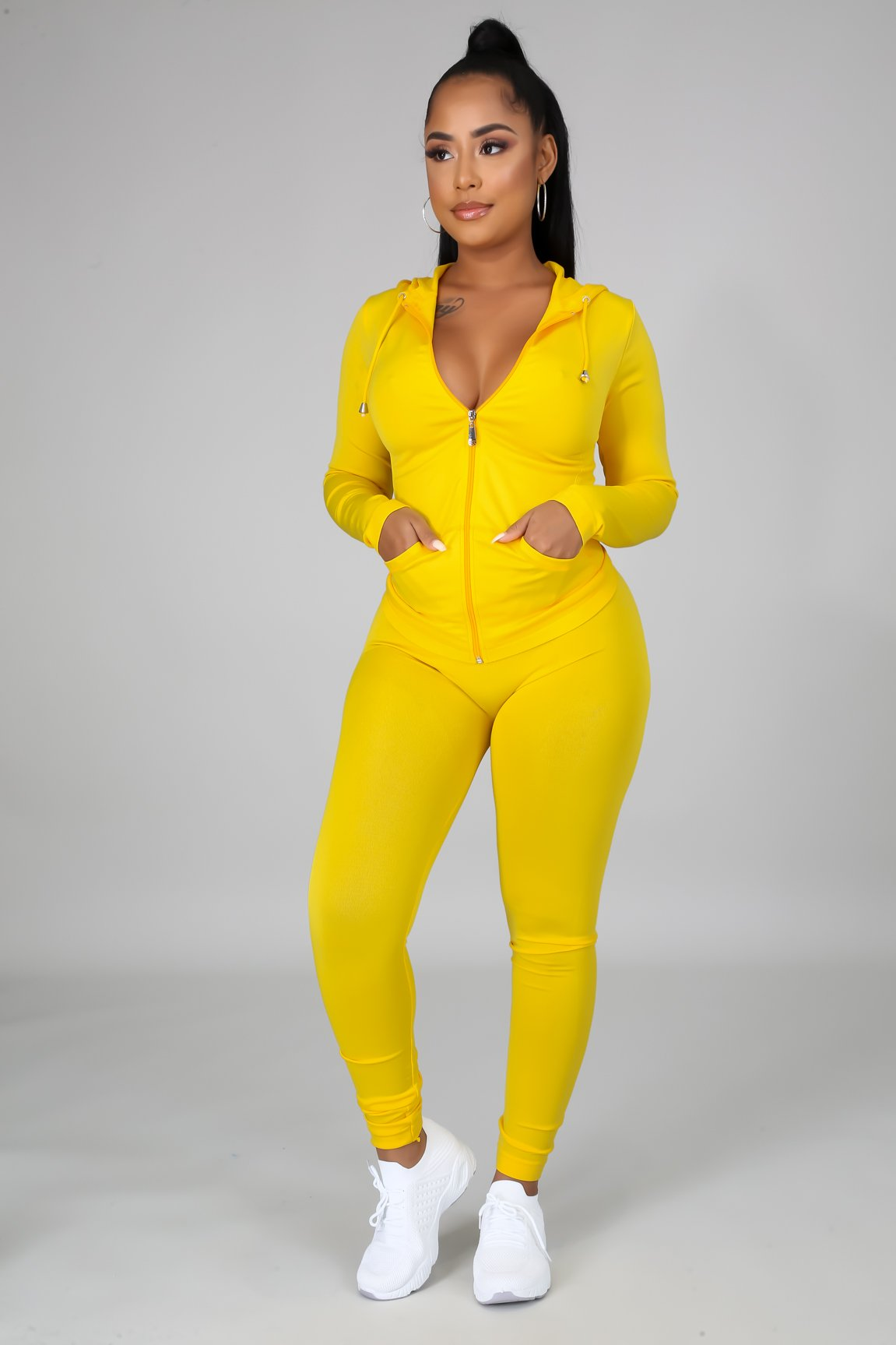 You Can Do It Legging Set - Yellow