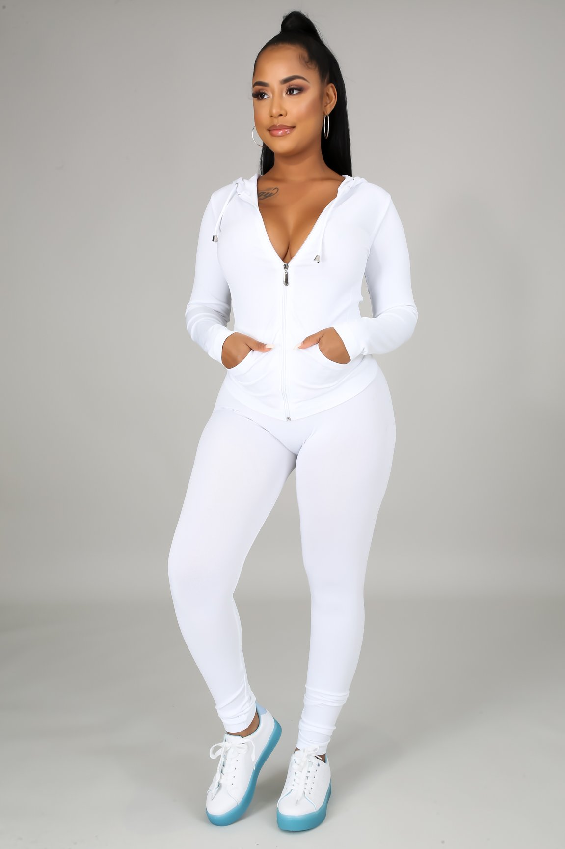 You Can Do It Legging Set - White