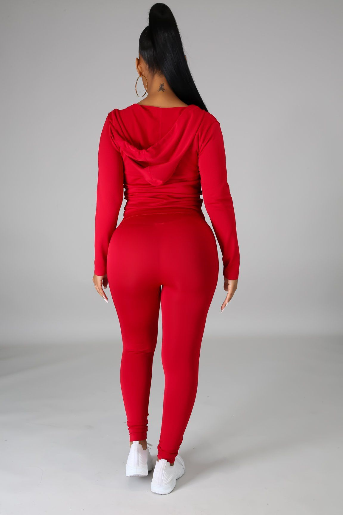 You Can Do It Legging Set - Red