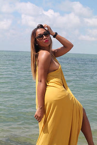 Jenna Maxi Dress - Mustard - Amor Black Boutique
