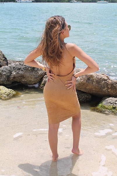 Let Me Persuede You Dress - Camel - Midi Dress