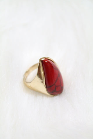 Gem Design Ring - Red