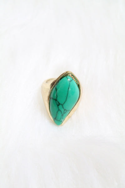 Gem Design Ring - Turquoise