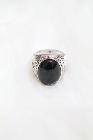Gem Cuff Rings - Black