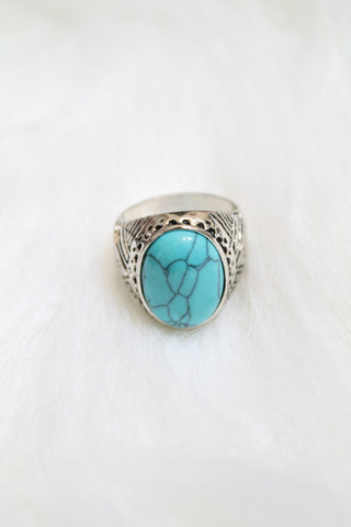 Gem Cuff Rings - Turquoise - Amor Black Boutique