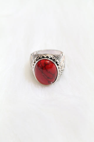 Gem Cuff Rings - Red