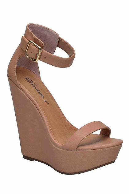 Vivi Wedge - Natural - Amor Black Boutique