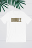 Boujee Leopard Print Graphic Tee - White