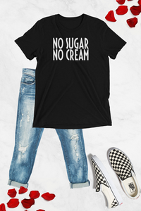No Sugar No Cream Graphic Tee - Black - Graphic Top