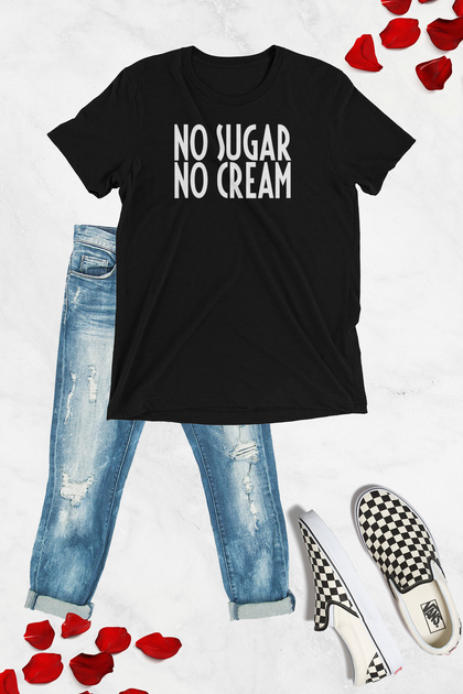 No Sugar No Cream Graphic Tee - Black - Amor Black Boutique