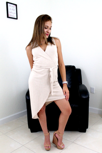 Nikki Sleeveless Dress - Sand - Mini Dress