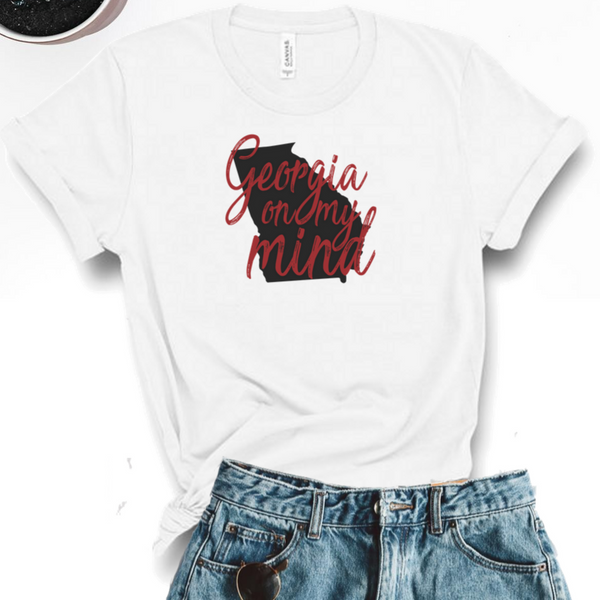 Georgia On My Mind Graphic Tee - White