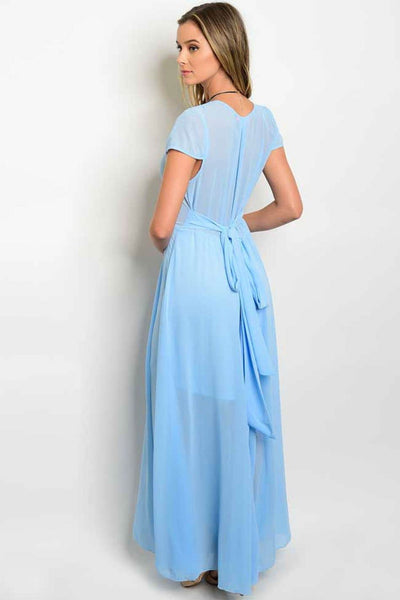 Celine Maxi Dress - Baby Blue - Maxi Dress