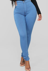 Got Them Saying Wow Jeans - Medium Blue - Amor Black Boutique