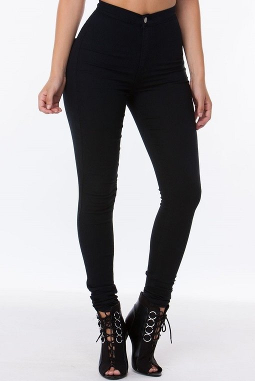 Load image into Gallery viewer, Got Them Saying Wow Jeans - Black - Amor Black Boutique