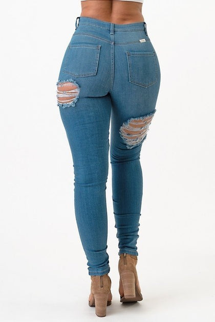 Take Chances High Rise Skinny Jeans - Medium - Amor Black Boutique