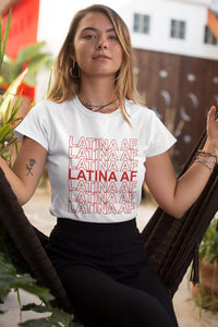 Latina AF Graphic Tee - Amor Black Boutique