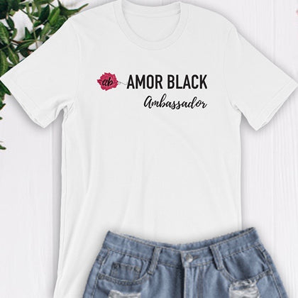 Amor Black Ambassador Tee - White - Amor Black Boutique