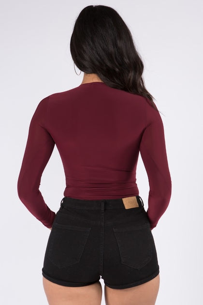 Laura Bodysuit - Burgundy - Amor Black Boutique