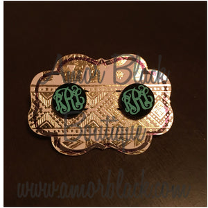 Monogrammed Earrings - Monogrammed Jewelry