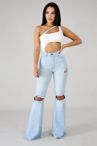 Prfect Fit Bell Bottom Jeans - Amor Black Boutique