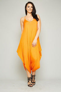 Caribbean Goddess Jumper - Orange - Plus Jumper