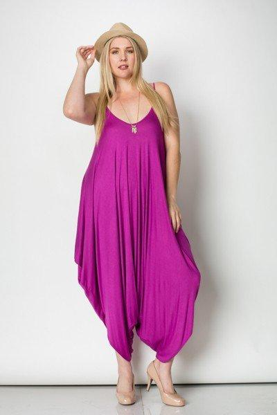 Caribbean Goddess Jumper - Magenta - Plus Jumper