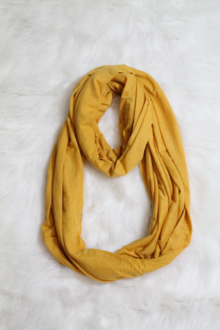 Mustard Infinity Scarf | Amor Black Boutique
