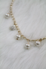 Gold Pearl Chain Necklace - White