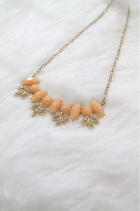 Casting Gem Necklace - Orange