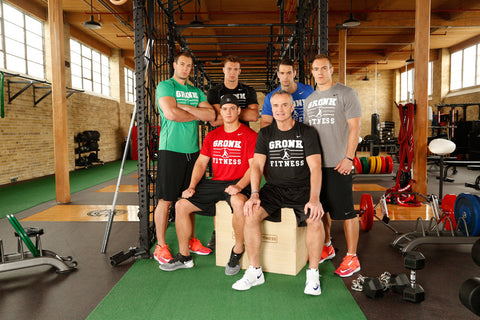 The Gronkowski brothers each approach their workouts differently; for example, while Rob builds muscle for the NFL, Gordie focuses on his arms and legs as a former professional baseball player.