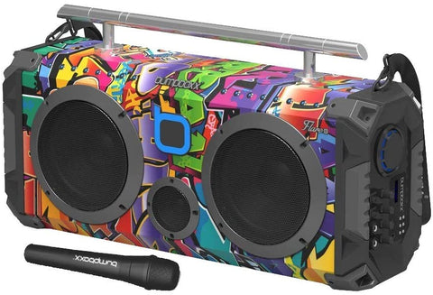 Bumpboxx is the leading music boombox with a colorful retro design and unbelievable sound to amp up the intensity and keep you in the zone.