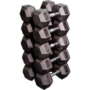 Rubber Hex Dumbbell - Singles (NOT Pairs)