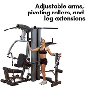 Body-Solid Fusion 500 Home Gym with 210-Pound Weight Stack (F500-2)